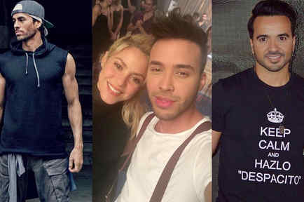 Enrique Iglesias, Shakira, Prince Royce, Luis Fonsi