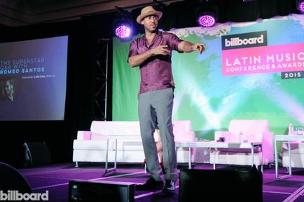 Romeo Santos en la conferencias de Billboard 2015