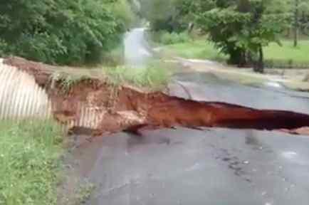 carretera arrasada