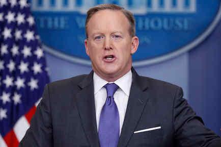 El portavoz de la Casa Blanca, Sean Spicer