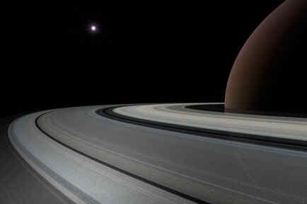 Sobrevolando los anillos de Saturno
