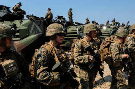 Soldados estadounidenses en ejercicio conjunto con tailandeses