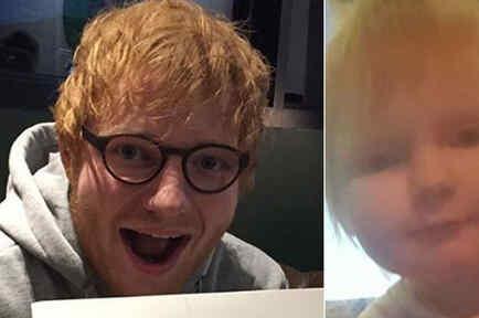 Bebé idéntica a Ed Sheeran