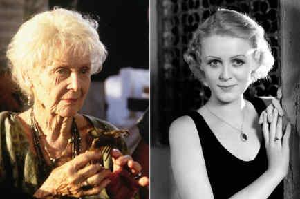 Gloria Stuart, en su vejez y en su juventud