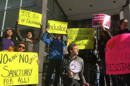 Manifestación a favor de las ciudades santuario el 14 de abril en San Francisco
