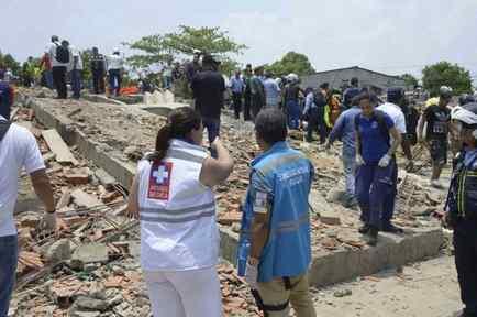 Derrumbe de un edificio en construcción en Cartagena