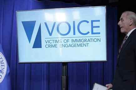 """El secretario de Seguridad Nacional, John Kelly, durante el lanzamiento de la oficina para dar """"voz"""" a víctimas de inmigrantes indocumentados"""