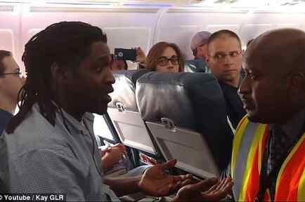 El pasajero Kima Hamilton en el vuelo de Delta