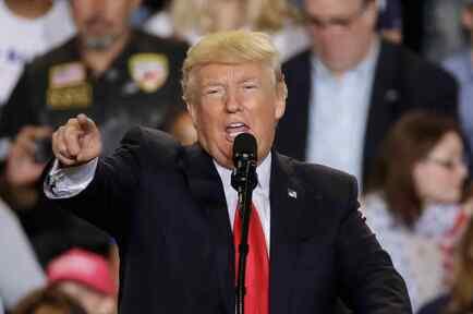 Trumplanzó críticas incisivas contra la prensa nacional durante un acto en Pensilvania