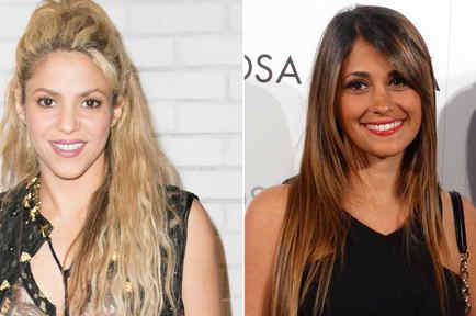 Shakira y Antonella Roccuzzo