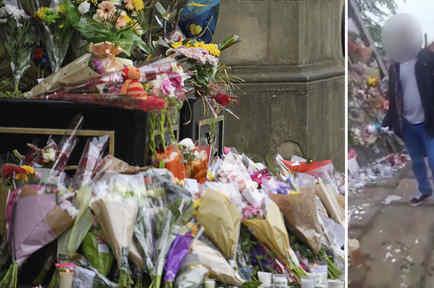 """Dos jóvenes que """"robaban flores y peluches"""" de un memorial"""