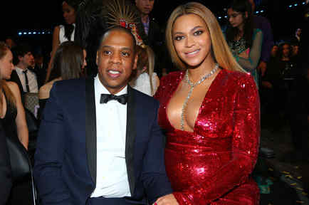 Beyonce and Jay-Z at an award show