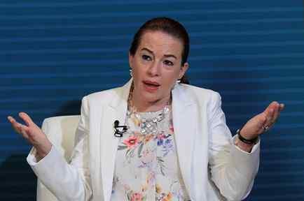 María Fernanda Espinosa, canciller ecuatoriana, en la Asamblea General de la Organización de Estados Americanos (OEA) el pasado 21 de junio.