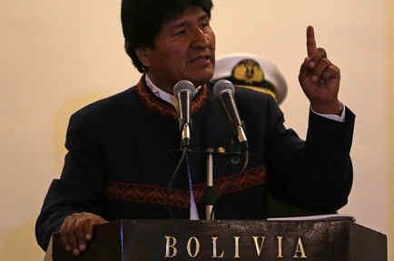 El presidente de Bolivia, Evo Morales, en un acto en el Palacio de Gobierno de La Paz el 28 de junio de 2017.