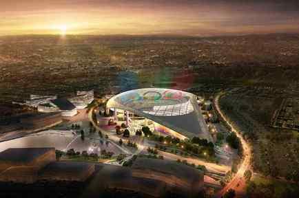 Estadio presentado por Los Angeles para los Juegos Olímpicos