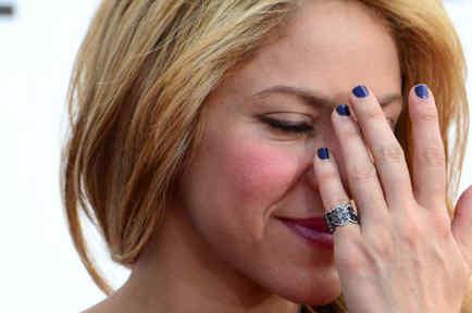 Shakira en una imagen sorprendida