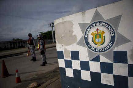 Un retén de la policía del estado Veracruz, México, en julio de 2017.