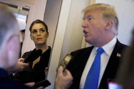 Hicks, junto a Trump en noviembre de 2017.