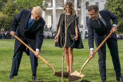Donald Trump,Emmanuel Macron,Melania Trump