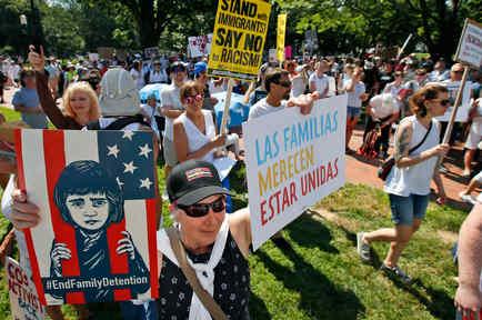 Marchas en NYC en contra de las políticas migratorias de Donald Trump