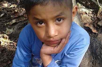 Felipe Gómez Alonzo, de 8 años, en Yalambojoch, Guatemala. El niño falleció en Nochebuena mientras estaba detenido por las autoridades estadounidenses.