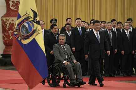 El presidente de Ecuador, Lenin Moreno, y su homólogo de China, Xi Jinping,