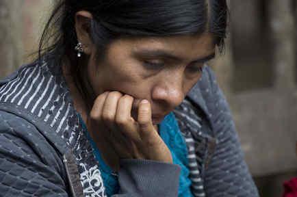 Catarina Alonzo Pérez, la madre de Felipe Gómez Alonzo, el niño guatemalteco de ocho años que murió bajo custodia de las autoridades migratorias estadounidenses el 23 de diciembre.