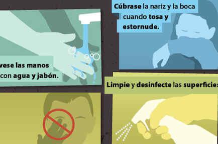 Aviso de los CDC sobre cómo evitar el contagio de virus respiratorio sincitial.