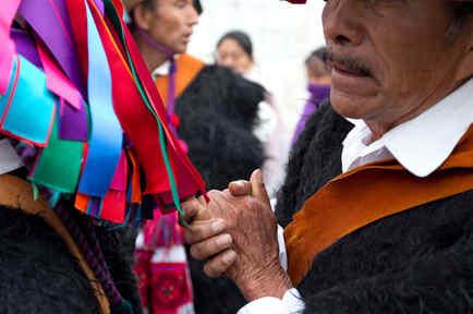 Foto de archivo de indígenas en Chiapas, México