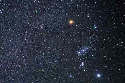 Betelgeuse, la estrella roja de la constelación Orión