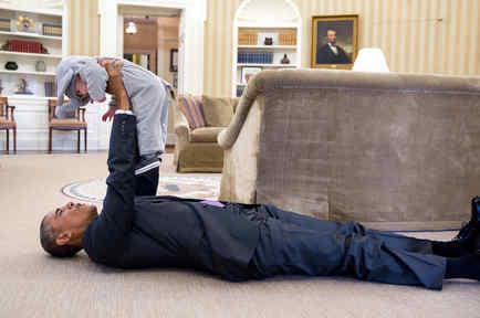 Obama y bebé