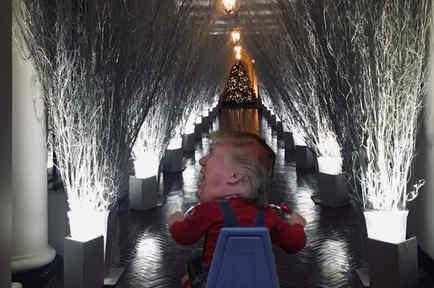 Los memes de la decoración navideña de la Casa Blanca