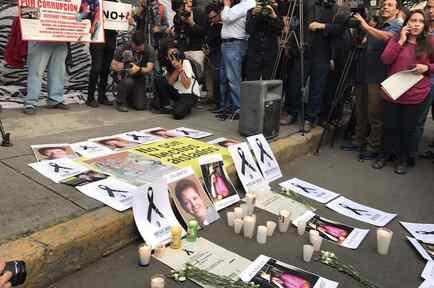 Manifestación para que se esclarezca la muerte del periodista mexicano Javier Valdez