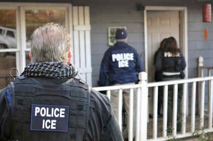 Foto de archivo de una redada de ICE en Atlanta.