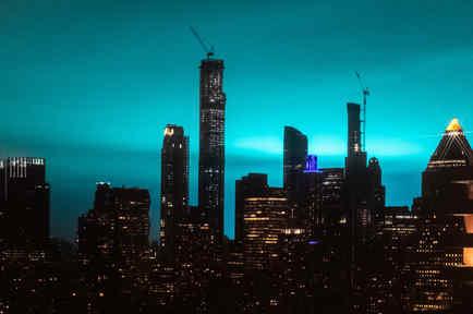 Cielo azul en Nueva York