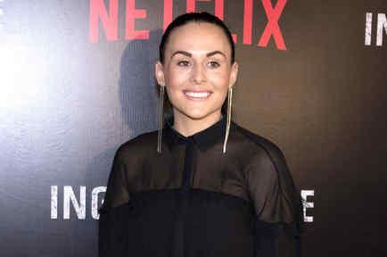 """Zuria Vega en el lanzamiento de la serie """"La Ingobernable"""". Red carpet en México, 22 de marzo 2017."""