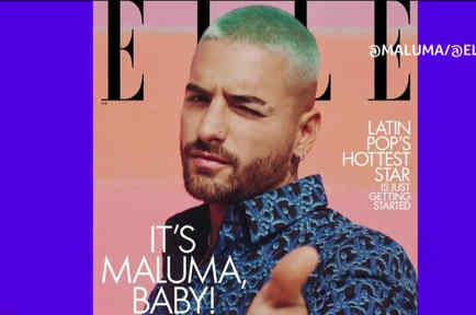 Maluma en revista Elle