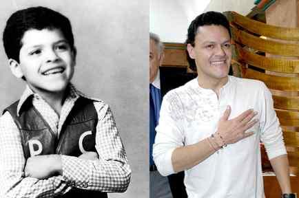 Pedro Fernández al inicio de su carrera y actualmente