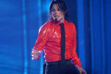 """Michael Jackson en la grabación de  """"American Bandstands 50th...A Celebration"""""""