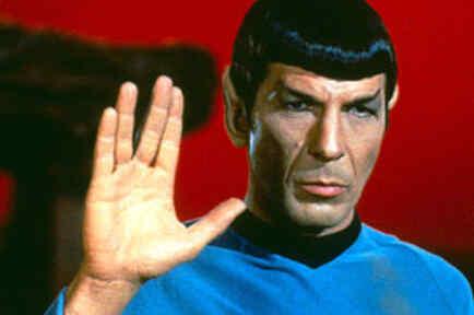 Leonard Nimoy como el personaje Mr. Spock de la serie 'Star Trek'