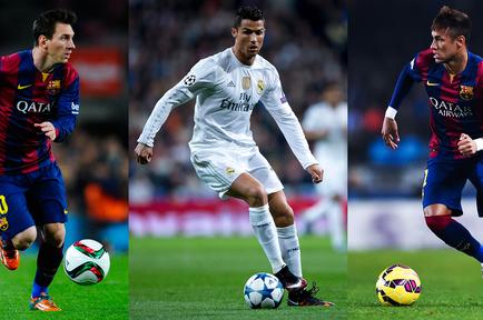 Messi, Ronaldo y Neymar
