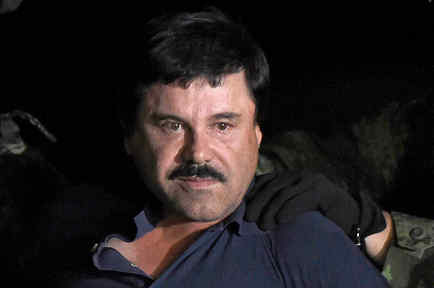 El Chapo Guzmán en enero de 2016