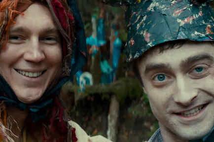 Daniel Radcliffe and Paul Dano in Swiss Army Man