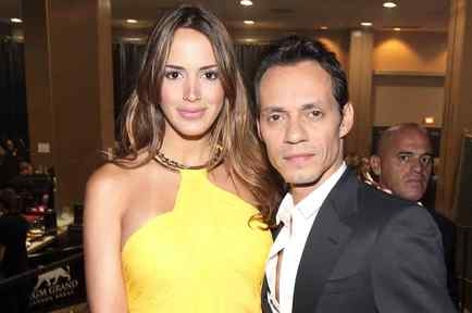 Marc Anthony y Shannon De Lima en el Annual Academy of Country Music Awards 2012