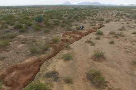 Grieta en el desierto de Arizona