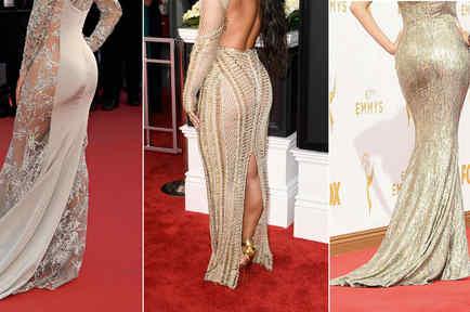 Eva Longoria, Demi Lovato y Sofía Vergara posando de espaldas