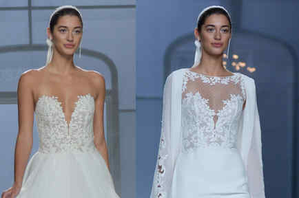 Mariana Downing vestida de novia