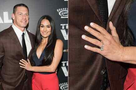 Nikki Bella y John Cena presumen anillo de compromiso