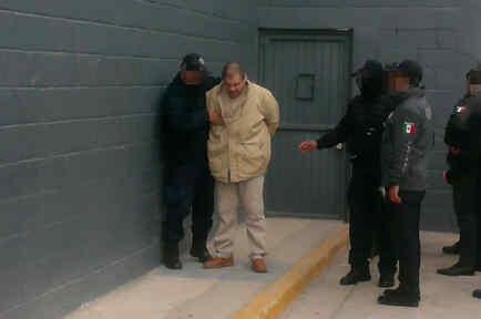Joaquín 'El Chapo' Guzmán antes de ser extraditado a EEUU