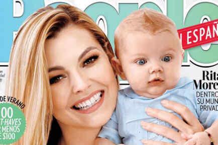 Marjorie de Sousa y su hijo Matías en la revista People en Español